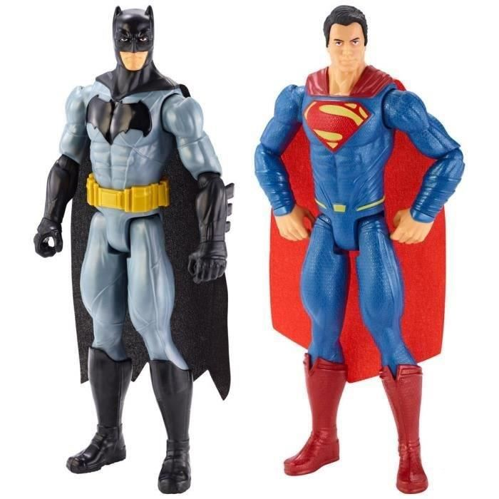FIGURINE - PERSONNAGE BATMAN vs Superman Pack 2 Figurines 30 Cm