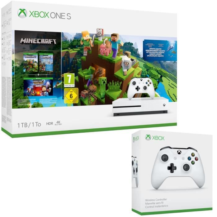 CONSOLE XBOX ONE Xbox One S 1 To Minecraft + 2e manette