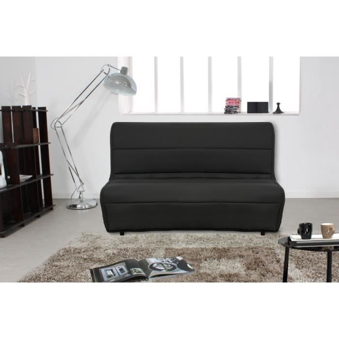 maya banquette bz convertible lit matelas dunlopillo 2 places noir achat vente bz 70 coton. Black Bedroom Furniture Sets. Home Design Ideas