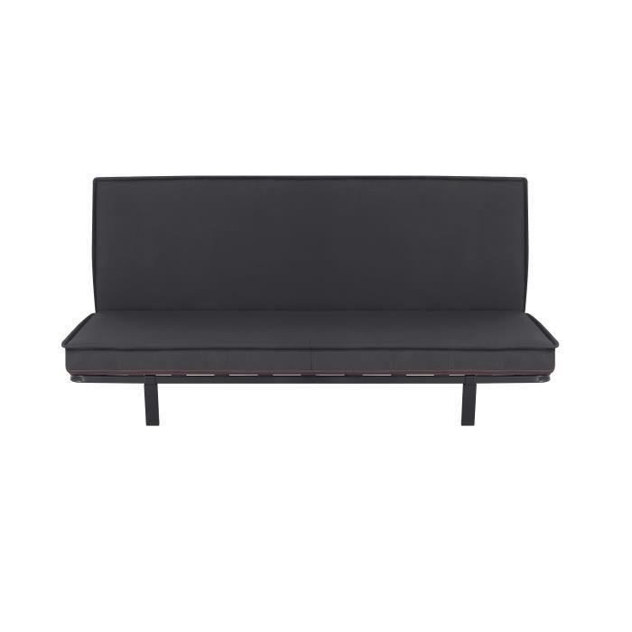uno banquette clic clac 2 places matelas dpack by. Black Bedroom Furniture Sets. Home Design Ideas