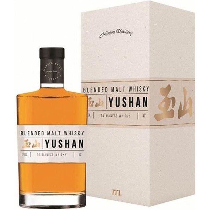 WHISKY BOURBON SCOTCH Yushan - Blended Malt Whisky Taiwan - 40%vol - 70c