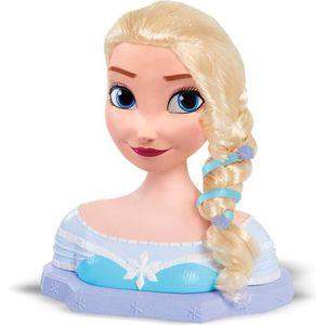COIFFEUR - ESTHÉTIQUE Disney Princesses - Tête à Coiffer Deluxe - Elsa