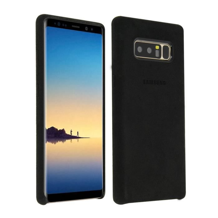 Samsung Coque en Alcantara Note8 - Noir