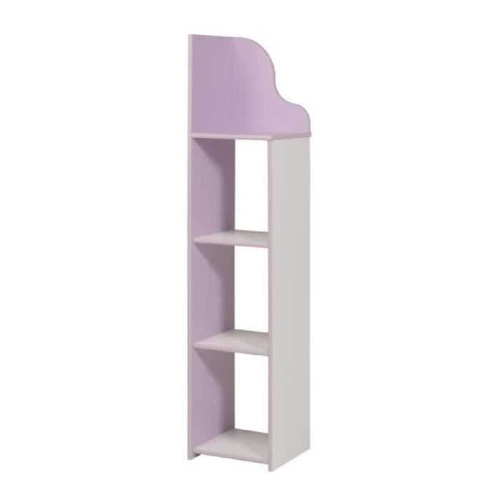 milena ensemble meubles de chambre enfant 78 cm blanc et lilas achat vente chambre. Black Bedroom Furniture Sets. Home Design Ideas