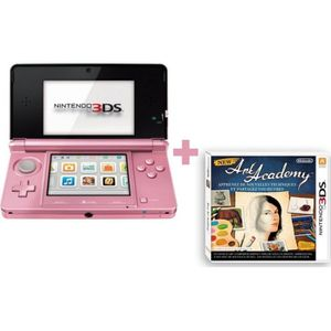 CONSOLE DS LITE - DSI NINTENDO 3DS ROSE CORAIL + NEW ART ACADEMY