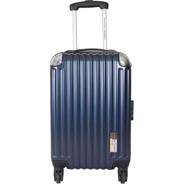 jean louis scherrer valise cabine polycarbonate 4 roues 50 cm bleu marine marine achat vente. Black Bedroom Furniture Sets. Home Design Ideas