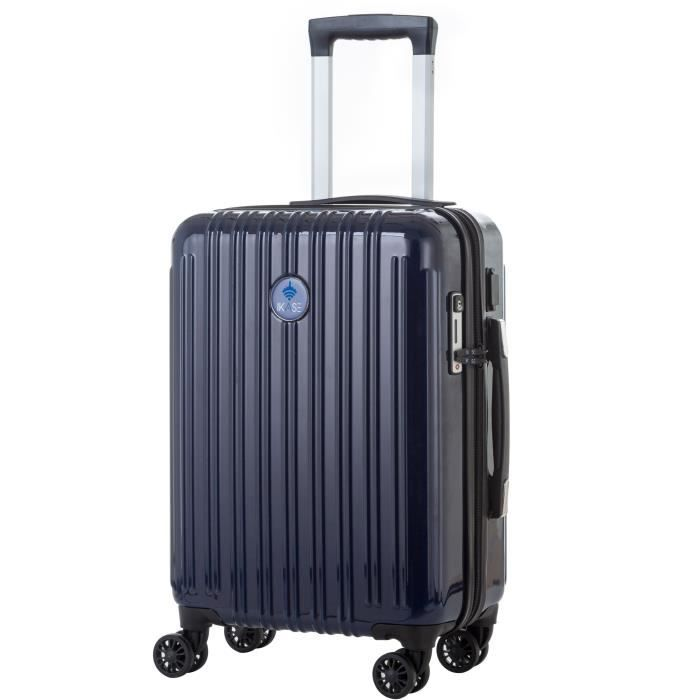 Photo de valise-cabine-connectee-trolley-navy