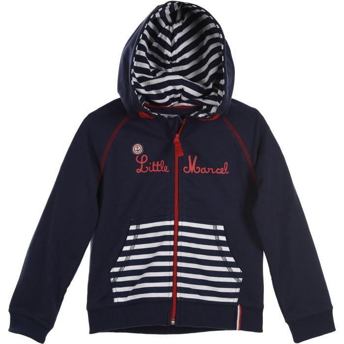 sweat-shirts capuche garçon little marcel neuf