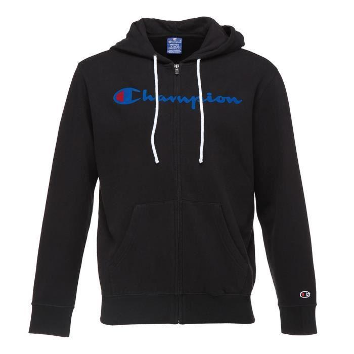 Champion Sweatshirt Zippe A Capuche Marine