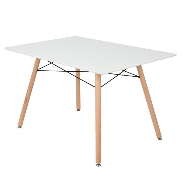 TABLE À MANGER SEULE MADDIE Table à manger de 4 à 6 personnes scandinav