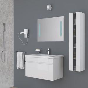 SALLE DE BAIN COMPLETE ALBAN Ensemble salle de bain simple vasque avec mi