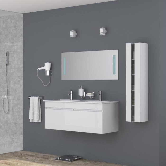 Meuble de salle de bain 1 vasque 2 robinet