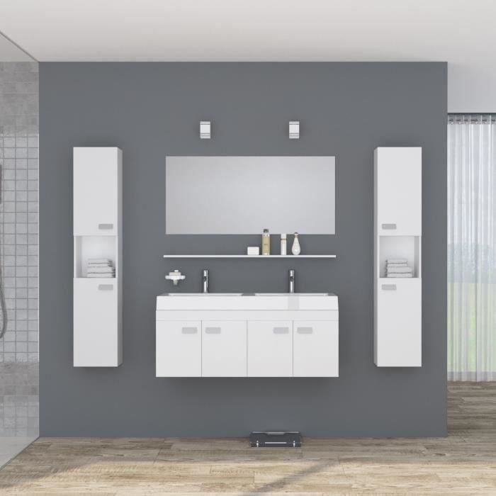 meuble salle de bain double vasque 120 achat vente meuble salle de bain double vasque 120. Black Bedroom Furniture Sets. Home Design Ideas