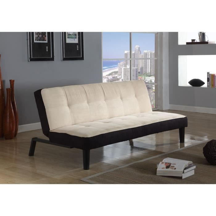 sun banquette convertible lit 3 places cr me achat. Black Bedroom Furniture Sets. Home Design Ideas