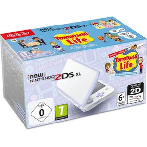 CONSOLE NEW 2DS XL Console New Nintendo 2DS XL Blanc/Lavande & Tomoda