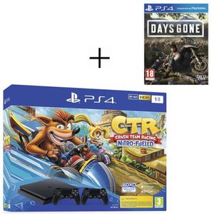 CONSOLE PS4 Pack PS4 1 To Noire + Crash Team Racing + 2ème man