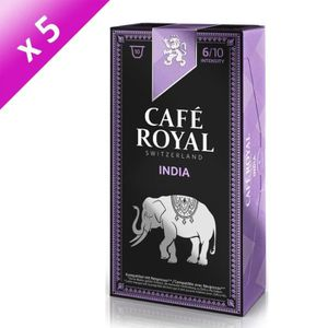 CAFÉ - CHICORÉE Lot de 5 Café Royal Single Origin India Capsules C