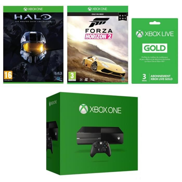pack console xbox one halo master chief collection forza horizon 2 abonnement xbox live. Black Bedroom Furniture Sets. Home Design Ideas