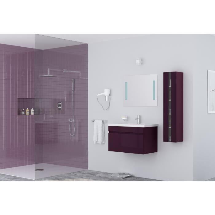 SALLE DE BAIN COMPLETE ALBAN Ensemble salle de bain simple vasque L 80 cm