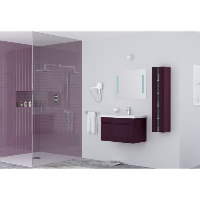 Alban salle de bain compl te simple vasque 80 cm laqu for Salle de bain complete solde
