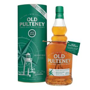 WHISKY BOURBON SCOTCH Old Pulteney  Dunnet   Head  1 litre 46%