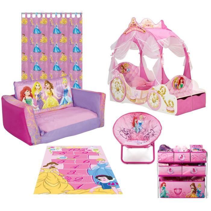 DISNEY PRINCESSES Pack Mobilier pour Chambre Complète Enfant ...