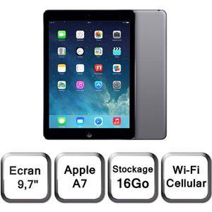 TABLETTE TACTILE Apple iPad Air Wi-Fi Cellular 16Go Gris Sidéral
