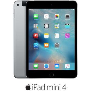 TABLETTE TACTILE Apple iPad mini 4 Wi-Fi Cellular 64Go Gris sidéral