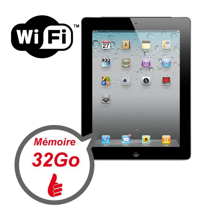 apple ipad 2 32 go achat vente tablette tactile apple. Black Bedroom Furniture Sets. Home Design Ideas