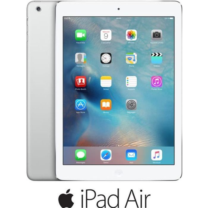apple ipad air 32go wi fi argent achat vente tablette tactile ipad air 32go wi fi argent au. Black Bedroom Furniture Sets. Home Design Ideas