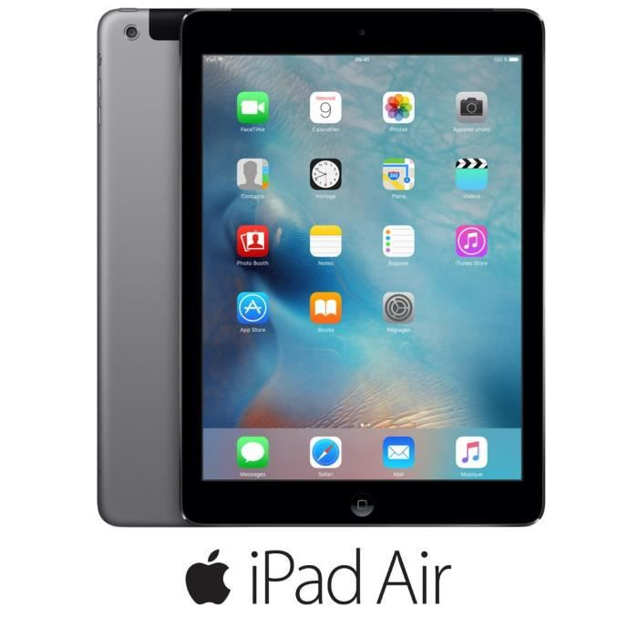 apple ipad air wi fi cellular 32go gris sid ral prix pas. Black Bedroom Furniture Sets. Home Design Ideas