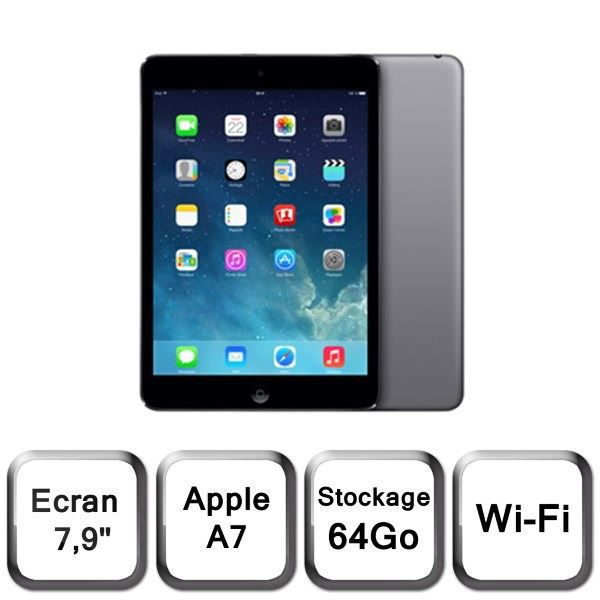 TABLETTE TACTILE Apple iPad Mini Retina 64Go Wi-Fi Gris Sidéral