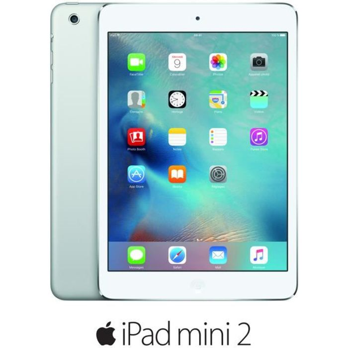 informatique tablettes tactiles ebooks apple ipad mini  wi fi go argent f menfa
