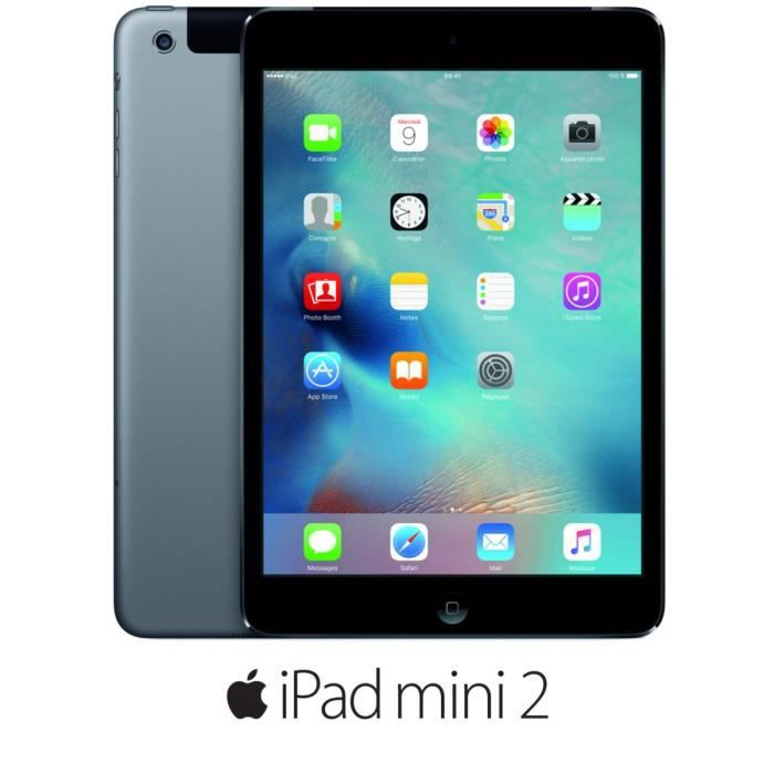 apple ipad mini 2 wi fi cellular 32go gris sid ral prix. Black Bedroom Furniture Sets. Home Design Ideas