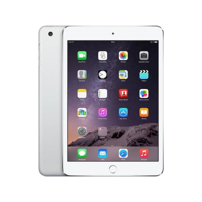 apple ipad mini 3 wi fi cellular 16go argent achat. Black Bedroom Furniture Sets. Home Design Ideas