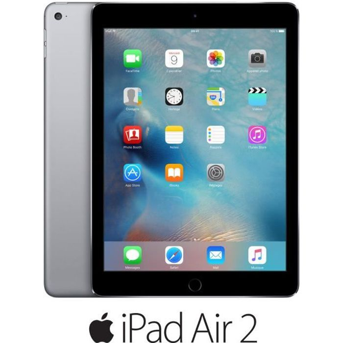 apple ipad air 2 wi fi 16go gris sid ral prix pas cher. Black Bedroom Furniture Sets. Home Design Ideas
