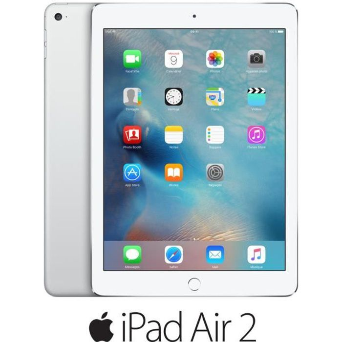 TABLETTE TACTILE Apple iPad Air 2 Wi-Fi 16Go Argent