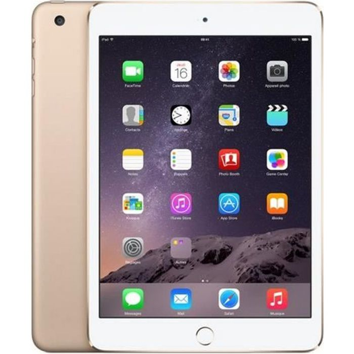 apple ipad mini 3 wi fi 16go or prix pas cher cdiscount. Black Bedroom Furniture Sets. Home Design Ideas