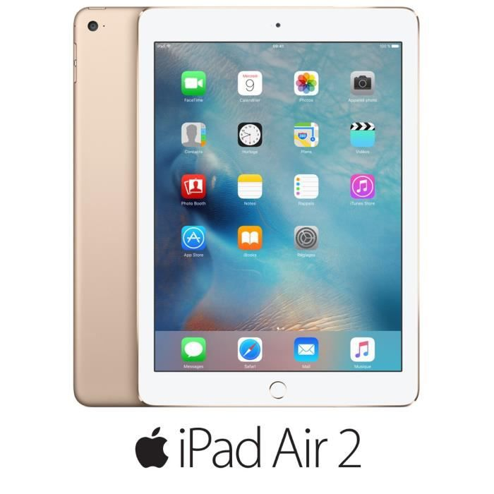 apple ipad air 2 wi fi 16go or prix pas cher les soldes sur cdiscount cdiscount. Black Bedroom Furniture Sets. Home Design Ideas