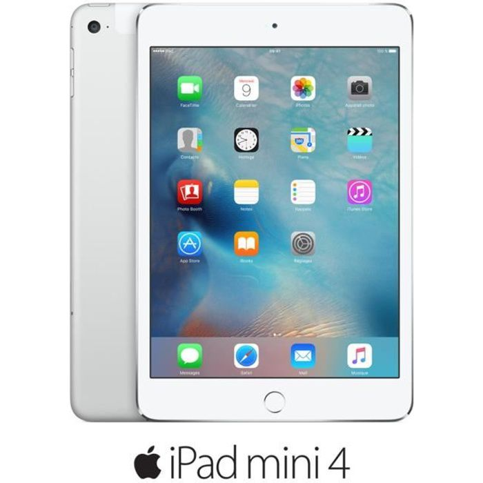 TABLETTE TACTILE Apple iPad mini 4 Wi-Fi Cellular 64Go Silver (MK73