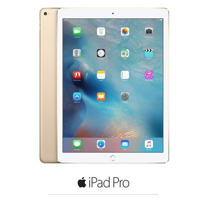 apple ipad pro wi fi cellular 128go or achat vente tablette tactile apple ipad pro soldes. Black Bedroom Furniture Sets. Home Design Ideas