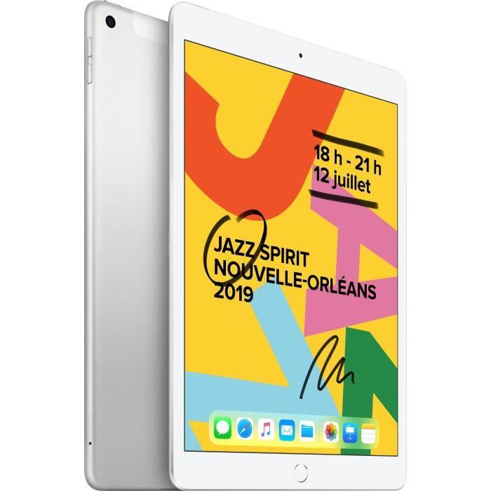 "TABLETTE TACTILE iPad 7 10,2"" Retina 32Go WiFi + Cellular - Argent"