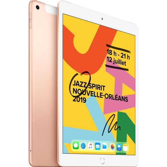 "TABLETTE TACTILE iPad 7 10,2"" Retina 32Go WiFi + Cellular - Or"