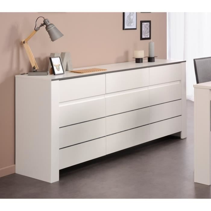 soho enfilade 180 cm blanc achat vente buffet bahut soho enfilade structure panneaux de. Black Bedroom Furniture Sets. Home Design Ideas