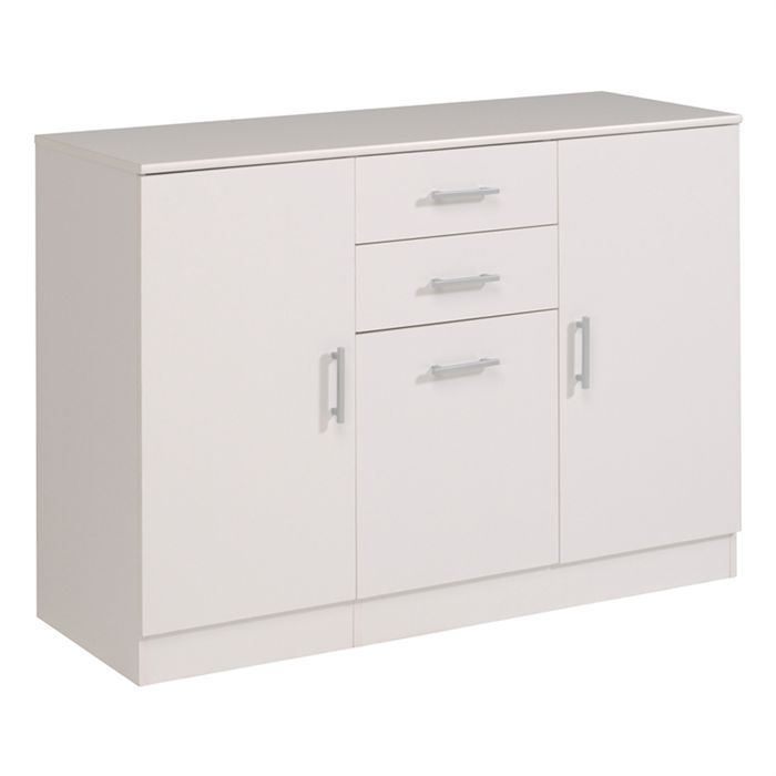 essentielle enfilade 120cm blanches achat vente buffet bahut essentielle enfilade blanc. Black Bedroom Furniture Sets. Home Design Ideas