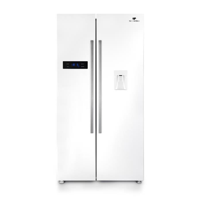 refrigerateur americain blanc achat vente pas cher. Black Bedroom Furniture Sets. Home Design Ideas