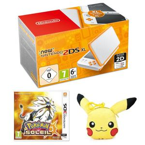 SORTIE CONSOLE NEW 2DS XL New Nintendo 2DS XL Blanche et Orange + Pokémon So