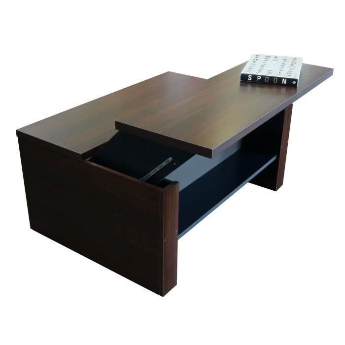 duplex table basse relevable l97cm weng noir achat. Black Bedroom Furniture Sets. Home Design Ideas