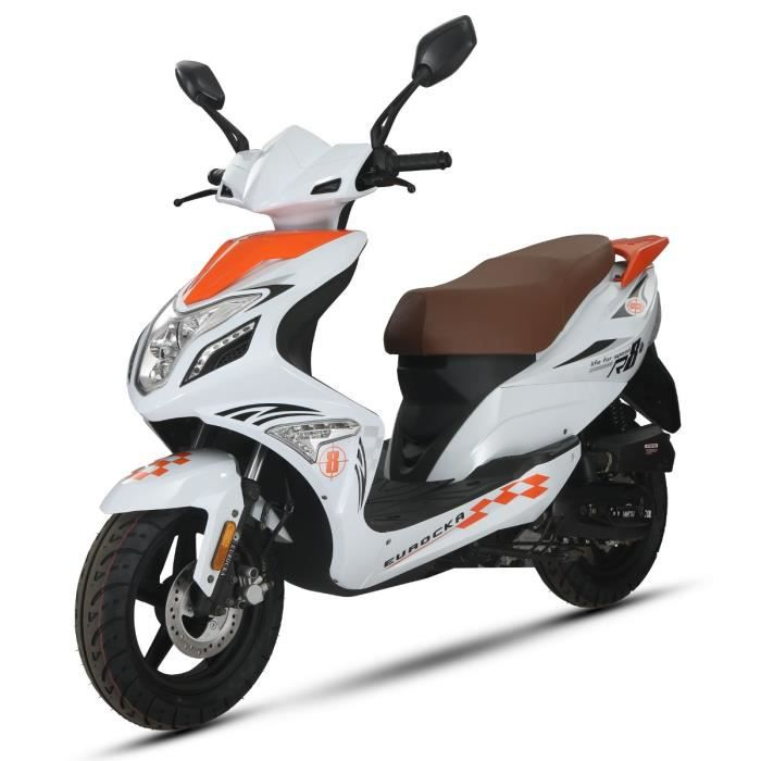 eurocka scooter 50cc r8 orange achat vente scooter eurocka r8 50cc orange cdiscount. Black Bedroom Furniture Sets. Home Design Ideas