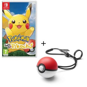 SORTIE JEU NINTENDO SWITCH Pack Jeu Pokemon Let's Go Pikachu Switch + Poke Ba